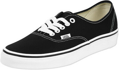 New Vans Kids Boys Shoes Authentic Black True White Canvas Shoes 0WWX6BT UK 1.5