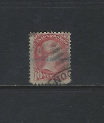CANADA - #45 - 10c SMALL QUEEN VICTORIA USED STAMP