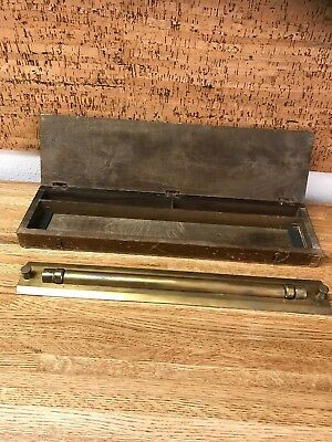 Antique Brass Rolling Parallel Ruler, HARLING, ENGLAND Circa Early 1900'es
