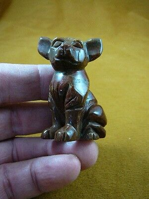(Y-DOG-CH-711) red CHIHUAHUA Mexican dog dogs figurine carving I love Chihuahuas