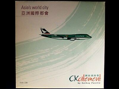 1:200 Herpa Wings Hogan Cathay Pacific Boeing 747-400 B-HOY Asia's World City