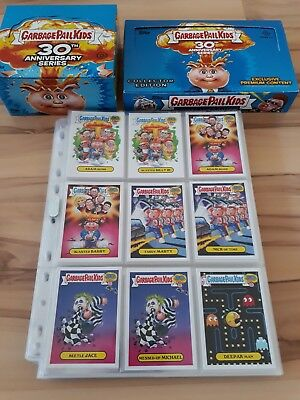 Garbage Pail Kids 30th anniversary 220 Card Master Set 2015 + boxes and wrappers