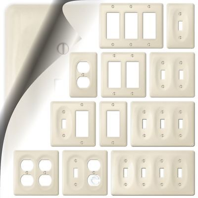 Allena Biscuit Ceramic Switch Plate Cover Kitchen Bath (Discontinued)