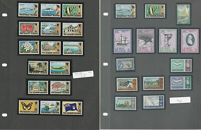 Gambia, Ghana, Gilbert Islands Stamp Collection on 7 Pages