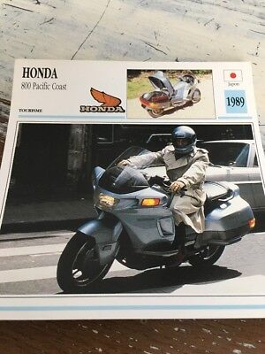 Honda 800 Pacific coast 1989 PC  PC800 Carte Collection moto Atlas Japon