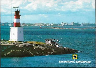 Helsinki, Finland - Lighthouse / Leuchtturm - German postcard c.1980s