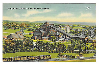 Anthracite Coal Mining Region of Pennsylvania Vintage Mebane MS 7 Linen Postcard
