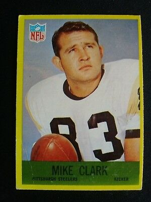 c6c9d11af0d 1967 Philadelphia Football Card   149 Mike Clark - Pittsburgh Steelers