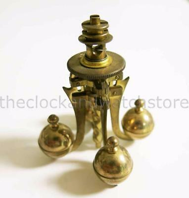 Vintage Small Brass 4 Ball Pendulum 400-Day Clock Anniversary Clock For Parts