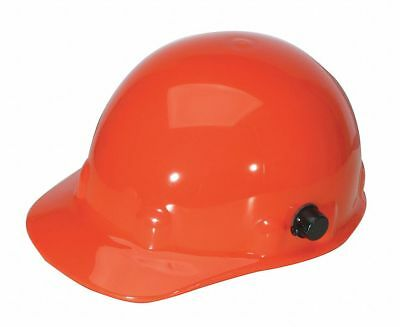 Front Brim Hard Hat, 8 pt. Ratchet Suspension, Orange, Hat Size: 6-5/8 to 7-3/4