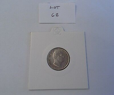 1834 William IV silver sixpence VF. (Lot 68)