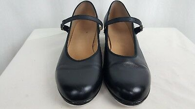 Bloch Black Tap Shoes Leather Techno Tap Maryjanes #1T // #2H Womens Sz 10.5