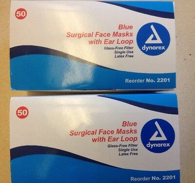 dynarex 2201 medical surgical face masks pack of 50