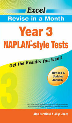 NEW Year 3 NAPLAN-style Tests By Horsfield & Jones Paperback Free Shipping