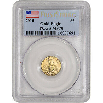 2010 American Gold Eagle 1/10 oz $5 - PCGS MS70 - First Strike
