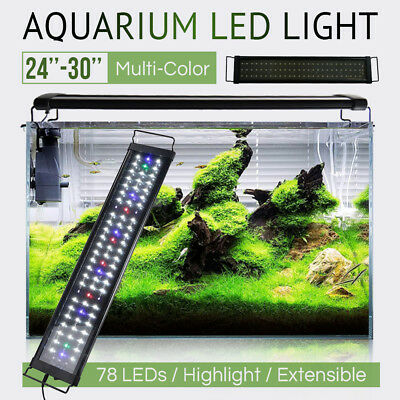 60cm 78 LED Aquarium Lights Full Spectrum Lamp Fish Lighting Tank Fit 61 - 76cm