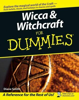 Wicca and Witchcraft For Dummies by Diane Smith Paperback Book The Cheap Fast