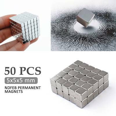 50 Strong Magnets * 5mm Cube * Neodymium NdFeB N35 Rare Earth Block Magnetic