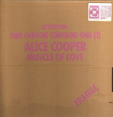 LP Alice Cooper Muscle Of Love QUADRAPHONIC, STICKERED CARDBOARD Warner