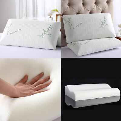 Bamboo Memory Foam Pillow Orthopedic Comfortable Twin Queen King Sleep Pillow AU