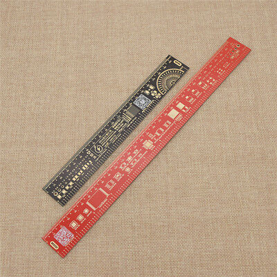 1pc Multifunctional PCB Straight Ruler Reference Measuring Portable Tool