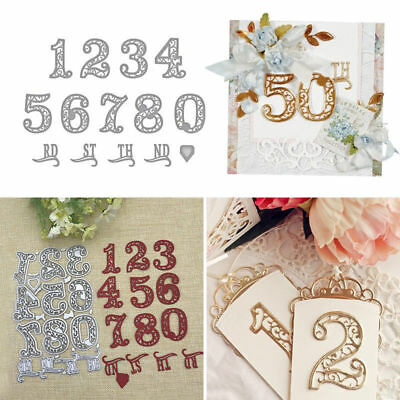 Useful Numbers Lace Cutting Dies Stencil Scrapbooking Embossing Paper Card Craft