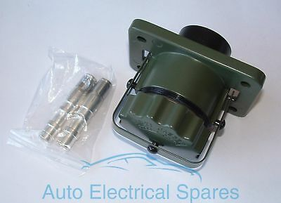 NATO 24V 2 Pin Towing Socket for LAND ROVER BEDFORD Military Vehicles