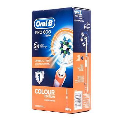 ORAL-B PRO 600 CROSSACTION COLOUR EDITION spazzolino elettrico ricaricabile e294f988a4f8c