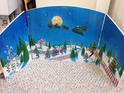 Department 56 Christmas Village Backdrop - 3 hinged panels