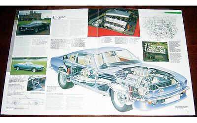 Aston Martin V8 Vantage Poster Fold-out Poster + Cutaway Drawing