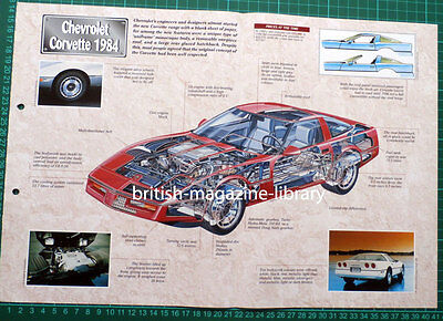 Chevrolet Corvette 1984 - Technical Cutaway Drawing