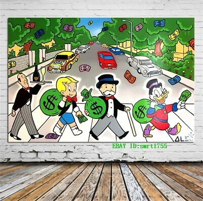 Alec Monopoly Canvas HD Prints Painting Wall Art Home Decor 12x18 inch #33