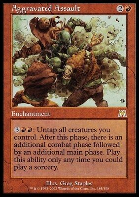 Aggravated Assault ~ Onslaught ~ NearMint/Excellent+ ~ Magic The Gathering