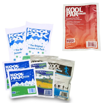 Instant Ice Pack Koolpak Heat Pack Sports Injuries Pain Relief Reusable