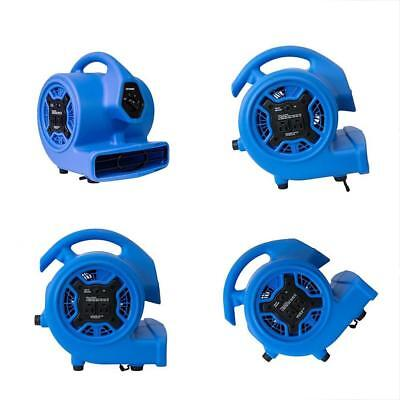 P-100A Categories 3 Speeds Mini Air Mover Built-In Dual Outlets For Daisy Chain
