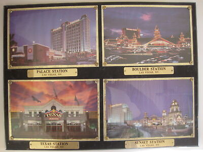 Stations Casinos Advertising Plaque Palace Boulder Texas Sunset Stations