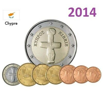 Serie - 2014 - 8 pieces  Coins  3,88 EURO - Chypre  Cyprus