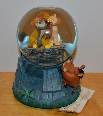 Disney Store The Lion King Circle Of Life Musical Snow Globe Mufasa Statue