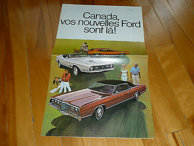 Ford 1971 Full Line Big Brochure Catalog French Original Vintage Dealer Sales