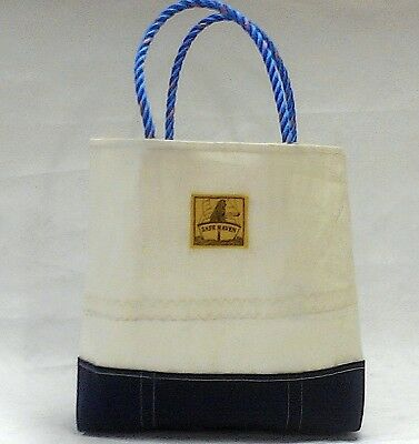 NEW! Eco-Cool, Sailcloth & Canvas BIG NAUTICAL TOTE BAG- for Newfie Dog Rescue