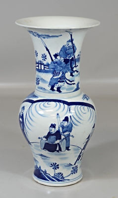 Chinese Porcelain Blue White Hand Painted Vase Home Decor Asian Vintage Antique