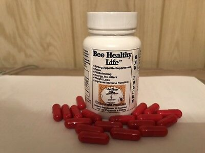 Bee Pollen Caps Reduce Weight Suppress Appetite Energy Immunity Skinny Can Bee U
