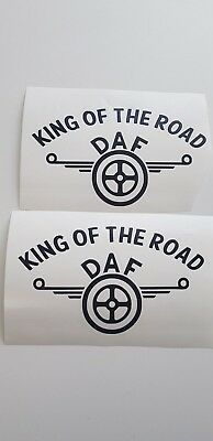 2X Daf King Of The Road Sticker Decal  Daf Xf Cf Haulage Lorry Truck