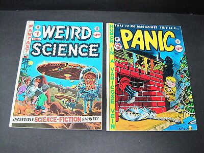 PANIC & WEIRD SCIENCE EC Classics #2 and #10 Magazine-size reprints 1987 VF/VF+