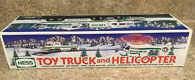 1995 HESS TOY TRUCK AND HELICOPTER NEW IN BOX FREE Shipping