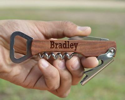 Personalized Wine/Beer Bottle Opener,Engraved Wooden Wine Beer Bottle Opener