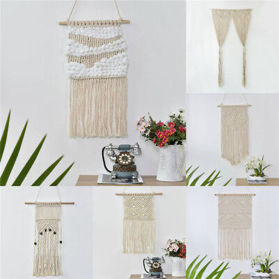 Chic BOHO Macrame Tassel Wall Hanging Handcraft Tapestry Bohemian Art Home Decor