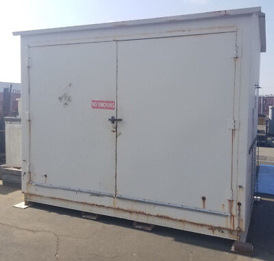 Double Door Hazmat / Chemical Safety Storage / Container Building