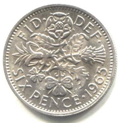 Great Britain 1965 Six Pence Wedding Bridal Coin - United Kingdom - England