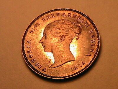 1883 GREAT BRITAIN Maundy 4 Pence Ch AU PL Light Tone Fourpence UK Silver Coin